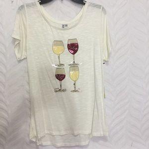Wine Glass Top Cream Vina Kate Park Medium